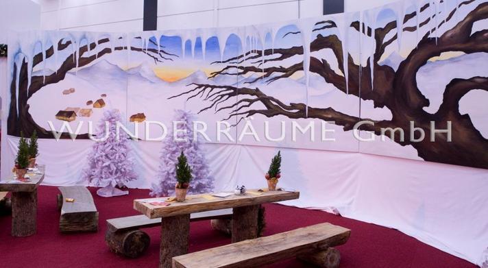 Saisonale Dekoration mieten & vermieten - Winterprospekt - WUNDERRÄUME GmbH vermietet: Dekoration/Kulisse für Event, Messe, Veranstaltung, Incentive, Mitarbeiterfest, Firmenjubiläum in Lichtenstein/Sachsen