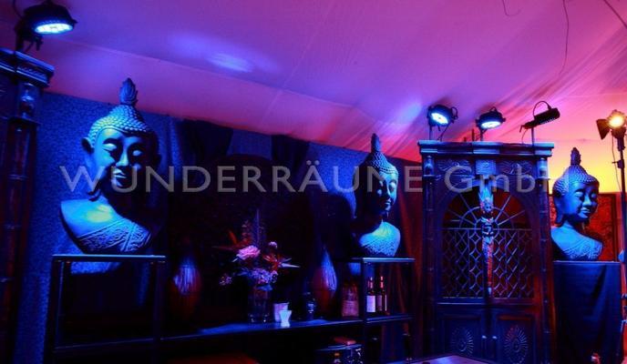 Kulissen mieten & vermieten - Buddha-Bar - WUNDERRÄUME GmbH vermietet: Dekoration/Kulisse für Event, Messe, Veranstaltung, Incentive, Mitarbeiterfest, Firmenjubiläum in Lichtenstein/Sachsen