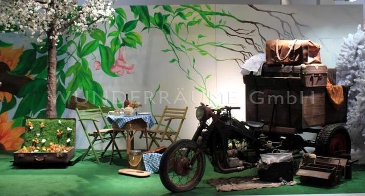 Kulissen mieten & vermieten - Kulisse Motorrad-Oldtimer-Picknick - WUNDERRÄUME GmbH vermietet: Dekoration/Kulisse für Event, Messe, Veranstaltung, Incentive, Mitarbeiterfest, Firmenjubiläum in Lichtenstein/Sachsen