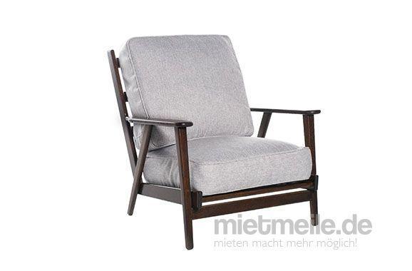 Loungemöbel mieten & vermieten - Sessel Soho Webstoff Grau in Hamburg