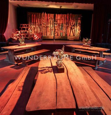 Kulissen mieten & vermieten - Eichen-Sitzbank - WUNDERRÄUME GmbH vermietet: Dekoration/Kulisse für Event, Messe, Veranstaltung, Incentive, Mitarbeiterfest, Firmenjubiläum in Lichtenstein/Sachsen