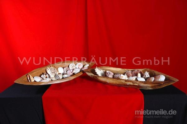 Tischdekoration mieten & vermieten - Holzschale - WUNDERRÄUME GmbH vermietet: Dekoration/Kulisse für Event, Messe, Veranstaltung, Incentive, Mitarbeiterfest, Firmenjubiläum in Lichtenstein/Sachsen
