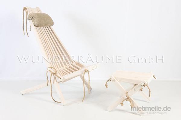Stühle mieten & vermieten - Liegestuhl Skandi - WUNDERRÄUME GmbH vermietet: Dekoration/Kulisse für Event, Messe, Veranstaltung, Incentive, Mitarbeiterfest, Firmenjubiläum in Lichtenstein/Sachsen