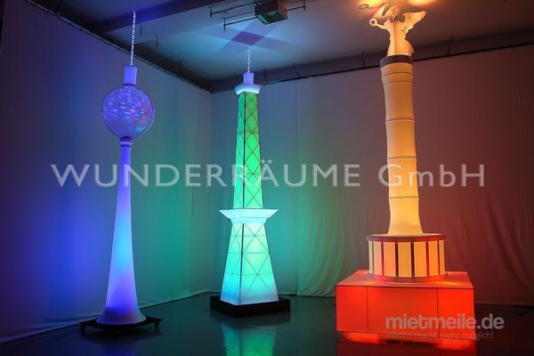 Leuchten & Lampen mieten & vermieten - Fernsehturm Berlin - WUNDERRÄUME GmbH vermietet: Dekoration/Kulisse für Event, Messe, Veranstaltung, Incentive, Mitarbeiterfest, Firmenjubiläum in Lichtenstein/Sachsen