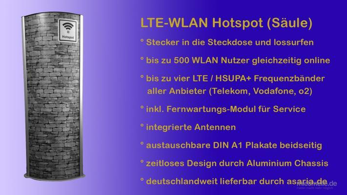 Netzwerk & Router mieten & vermieten - WLAN Internet Event Hotspot WiFi Säule für Veranstaltungen Internetzugang mit LTE für Messe Festival oder Kongress in Berlin Hamburg Bremen München Köln Frankfurt  in Frankfurt am Main