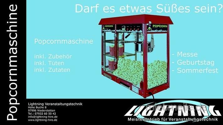 Popcornmaschine mieten & vermieten - Popcornmaschine Profi, inkl. Auslage, inkl. 200 Portionen in Niederstetten