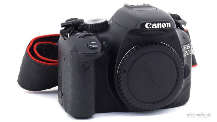 Fotokamera mieten & vermieten - Canon EOS 550D Spiegelreflex-Kamera DSLR Body in Schkeuditz