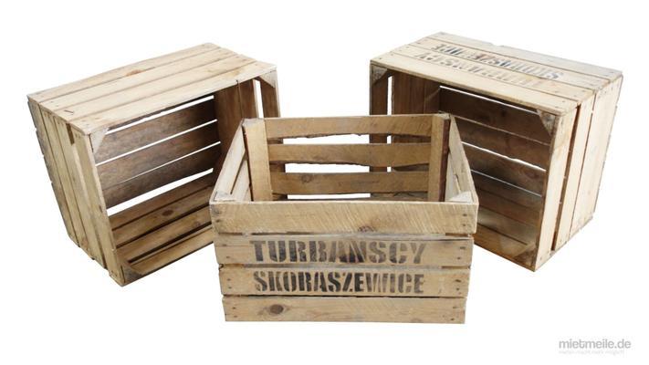 Hochzeitsdekoration mieten & vermieten - Wein-Kisten Obstkisten in Schkeuditz
