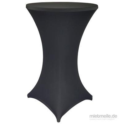 Stehtische mieten & vermieten - Stehtisch Ø 80cm mit Stretchhusse Klappbar in Neunkirchen am Sand