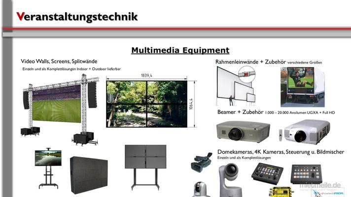 Leinwand mieten & vermieten - Leinwand / Multimedia / Video in Neunkirchen am Sand