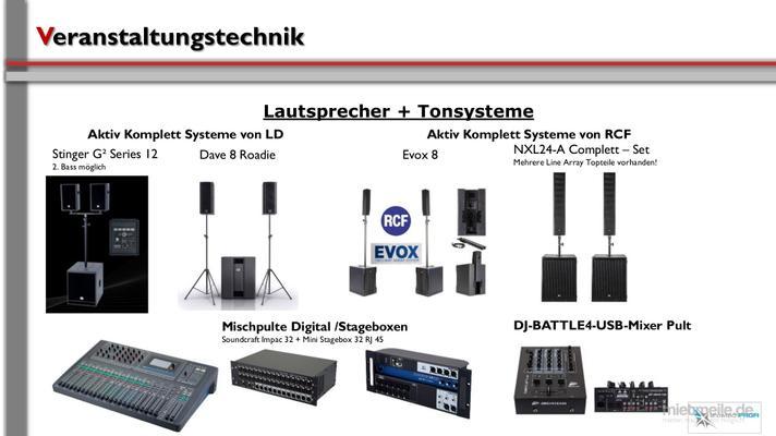 Tontechnik mieten & vermieten - Tontechnik in Neunkirchen am Sand