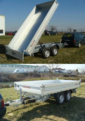 Kippanhänger mieten & vermieten - Rückwärtskipper Dreiseitenkipper Baggertransporter von 1500 kg bis 3500 kg ab 12 € preiswert mieten in Köln
