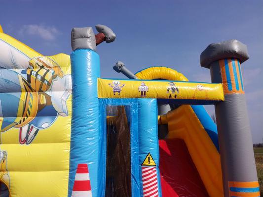 Hüpfburg mieten & vermieten - Hüpfburg mieten für 1 Tag für 145€ Robotor und seine Freunde 5,20m x 5,00m verleih für Hochzeiten, Vereinsfeste, Straßenfeste, Kindergeburtstag in Großholbach