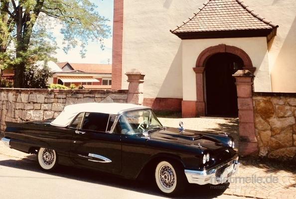 Oldtimer mieten & vermieten - Ford Thunderbird Cabrio Bj. 59, Hochzeitsauto, Chauffeur/-in, Oldtimer in Freiburg im Breisgau
