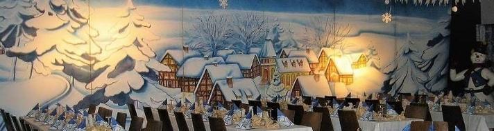 Kulissen mieten & vermieten - Winterdorf Kulisse, Weihnachten, Schnee, Schneelandschaft Winter in Kamp-Bornhofen