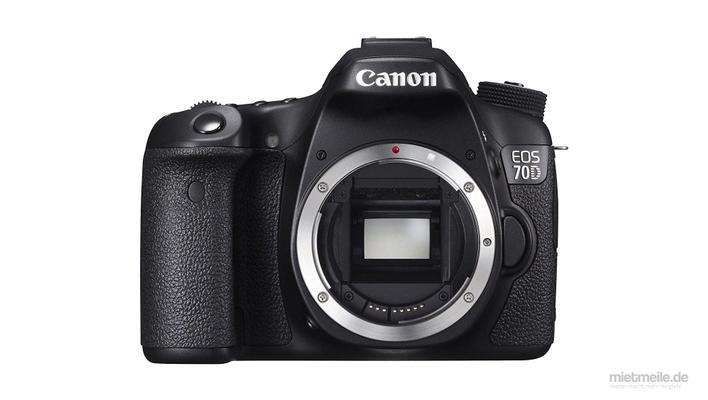 Fotokamera mieten & vermieten - Canon EOS 70D Spiegelreflex-Kamera DSLR Body in Schkeuditz