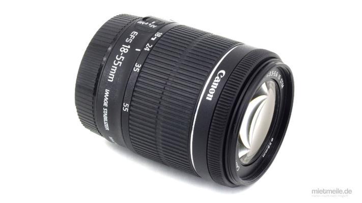 Objektive mieten & vermieten - Objektiv Canon EF-S 18-55mm F/3.5 IS STM in Schkeuditz