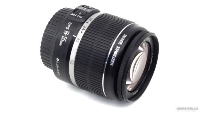 Objektive mieten & vermieten - Zoom-Objektiv Canon EF-S 18-55mm F/3.5 in Schkeuditz