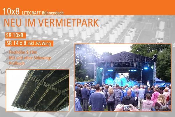 Bühne mieten & vermieten - Bühnendach / Bühne / Satteldach mieten für Ihre Veranstaltung in Neuenkirchen