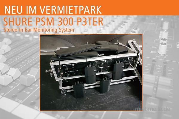 Tontechnik mieten & vermieten - In Ear - SHURE PSM 300 P3TER mieten in Neuenkirchen