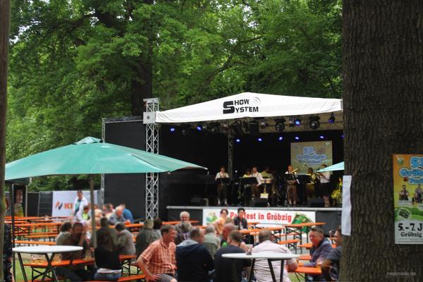 Bühne mieten & vermieten - Bühne Open-Air Bühne Veranstaltungsbühne Bühnendach mobile Eventbühne Ground-Support Bühne 8x6m in Gröningen