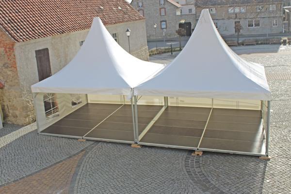 Pagodenzelt mieten & vermieten - Partyzelt Pagode Pavillon Pagoden-Zelt 5x5m mit Boden in Gröningen