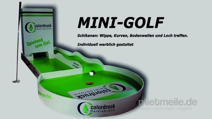 Minigolf mieten & vermieten - Mini-Golf  als liegende Werbebahn.  in Wunstorf