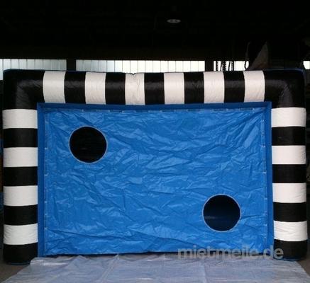 Fußball mieten & vermieten - aufblasbare Fußballtorwand / aufblasbares Fußballtor, inkl. Versand, inkl. 19% MwSt. in Münnerstadt
