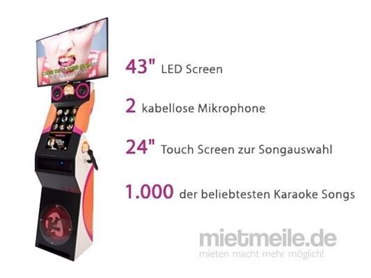 Karaoke Verleih mieten & vermieten - Hochwertige Karaokemaschine inkl. Bildschirm in München