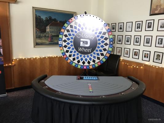 Gewinnspiele mieten & vermieten - Money Wheel – Dream Catcher Tisch - Mobiles Casino in Wipperfürth