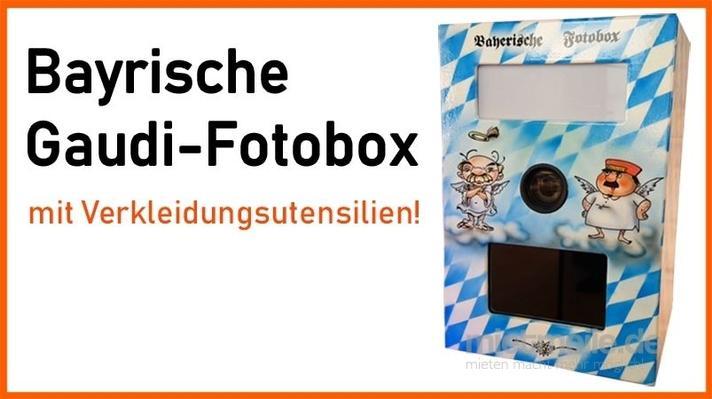 Fotobox mieten & vermieten - Bayrische Fotobox mit Verkleidungsutensilien mieten in Königsbrunn