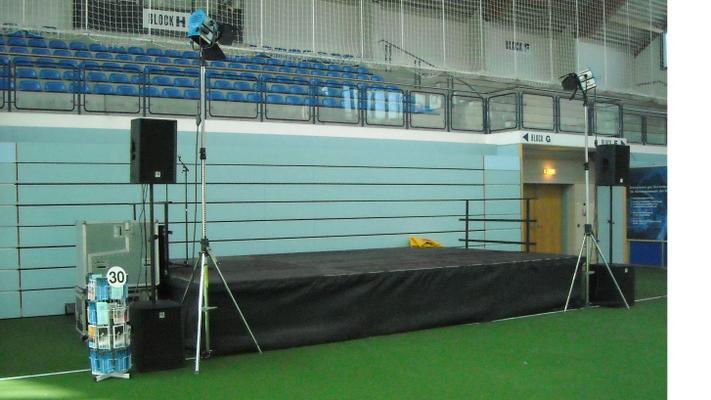 Bühne mieten & vermieten -  Bühne Podest, Laufsteg, Rundbühne / Podestbühnen auch andere Größen und Ausführungen möglich  in Nürnberg