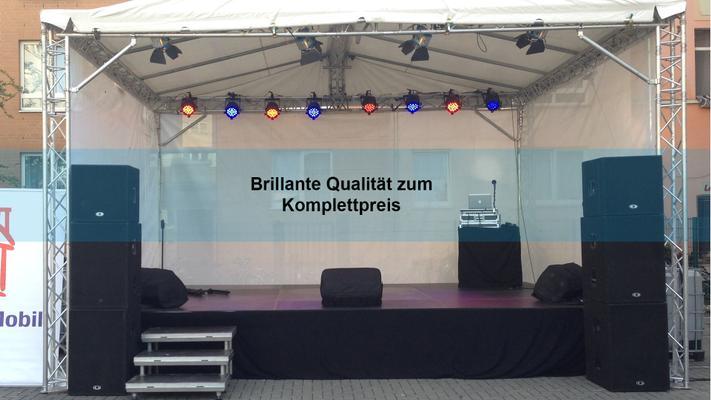 Bühne mieten & vermieten - Bühne 6x4 m / Open Air Bühne / Konventionelle Bühne / mobile Bühne in Langenhagen