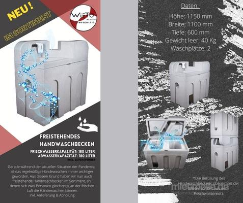 Arbeitsschutzausrüstung mieten & vermieten - Mobiles Handwaschbecken in Hüllhorst