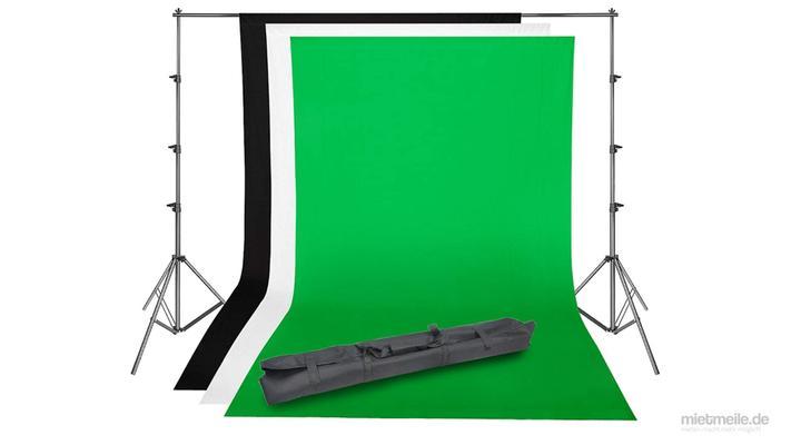 Kamerazubehör mieten & vermieten - Foto-Hintergrund Fotowand Greenscreen Hintergrund-System in Schkeuditz