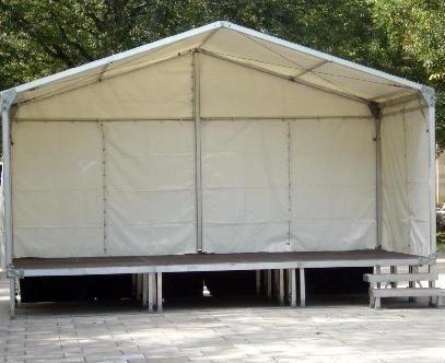 Bühne mieten & vermieten - Bühne 3x6m mit Zeltdach in Crossen an der Elster