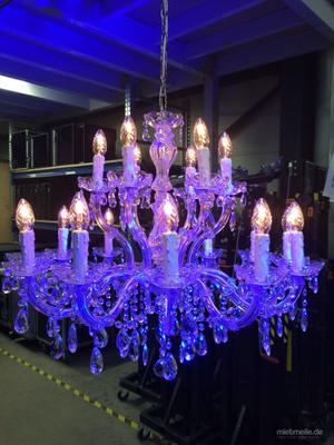Leuchten & Lampen mieten & vermieten - Kronleuchter Kristall Lüster Ø75cm 18 Flammig mit Glaskristallen Tannen in Waldshut-Tiengen