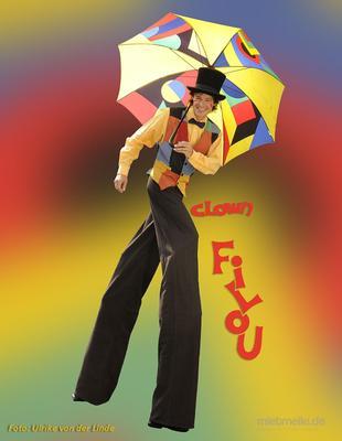 Clown mieten & vermieten - Clown Filou`s bunte Luftballonwelt in Nierstein