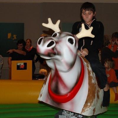 Bullriding mieten & vermieten - Rentierrodeo - das Bullriding zu Weihnachten inkl. 19% MwSt. in Münnerstadt