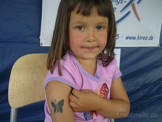 Kinderschminken mieten & vermieten - Airbrush Tattoos / Fake Tattoos inkl. 19% MwSt. in Münnerstadt