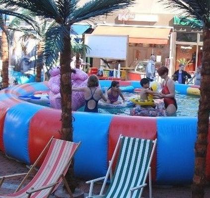Wasserspiele mieten & vermieten - aufblasbarer Pool - Swimmingpool in Münnerstadt