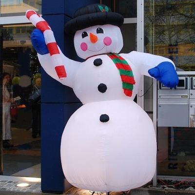 Weihnachtsdekoration mieten & vermieten - aufblasbarer Schneemann oder andere Figuren, inkl. 19%MwSt in Münnerstadt
