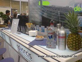 Cocktailbar mieten & vermieten - Theke Standard blau/weiß  4,30 Meter Länge in Albig