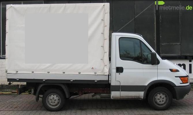 transporter lkw iveco daily berlin umzugswagen m belwagen pritschenwagen pritsche plane. Black Bedroom Furniture Sets. Home Design Ideas