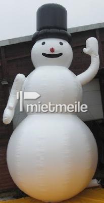 Aufblasbare Dekoration mieten & vermieten - aufgeblasener Schneemann in Eibelstadt