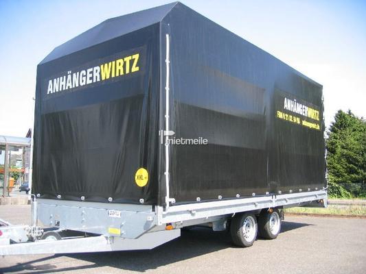 Planenanhänger mieten & vermieten - KFZ Transporter geschlossen mit Plane 5m 3,5t in Grevenbroich